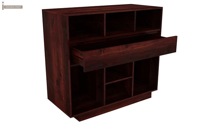 Beauford Kitchen Cabinet (Mahogany Finish)-3