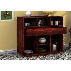 Beauford Kitchen Cabinet (Mahogany Finish)