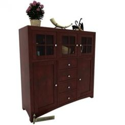 Carrock Cabinet (Mahogany Finish)
