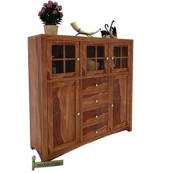 Carrock Cabinet (Teak Finish)