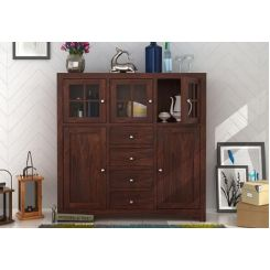 Carrock Cabinet (Walnut Finish)