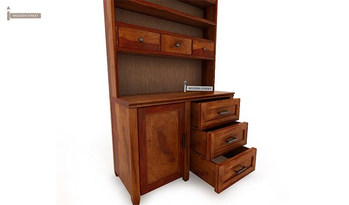 Clayton Kitchen Cabinet (Honey Finish)-4
