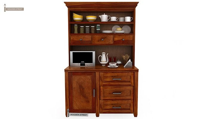 Clayton Kitchen Cabinet (Honey Finish)-5