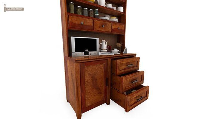 Clayton Kitchen Cabinet (Honey Finish)-7