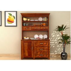 Clayton Kitchen Cabinet (Honey Finish)