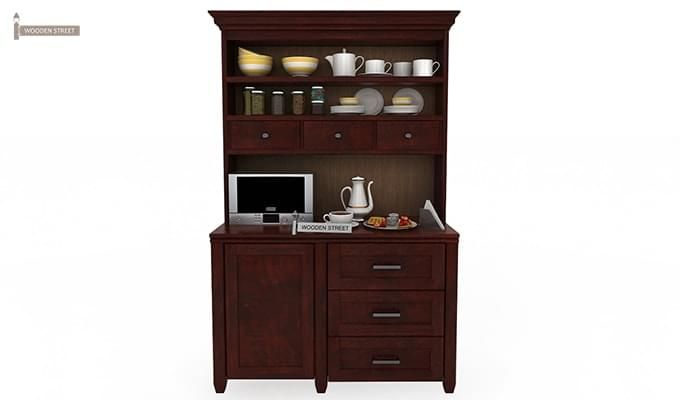 Clayton Kitchen Cabinet (Mahogany Finish)-1