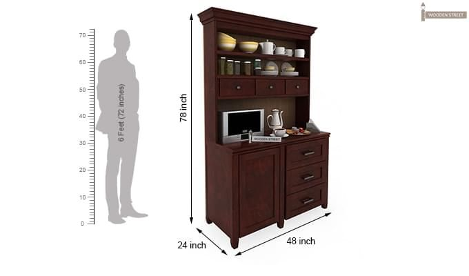 Clayton Kitchen Cabinet (Mahogany Finish)-3