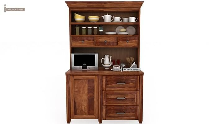 Clayton Kitchen Cabinet (Teak Finish)-1