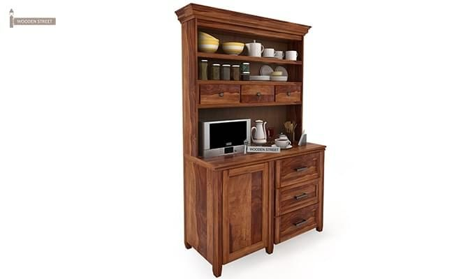 Clayton Kitchen Cabinet (Teak Finish)-2