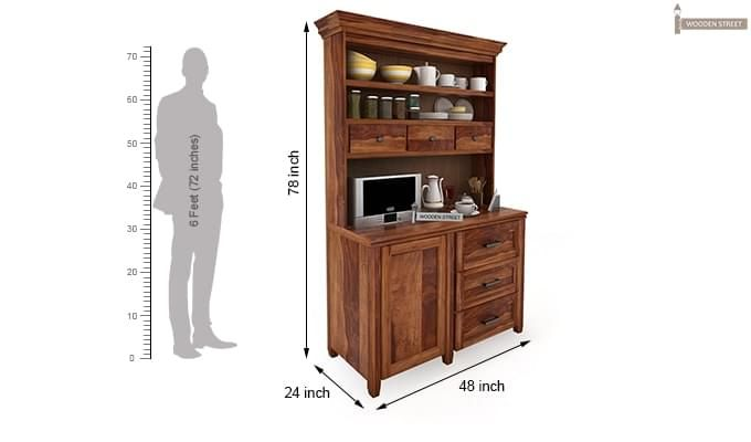 Clayton Kitchen Cabinet (Teak Finish)-3