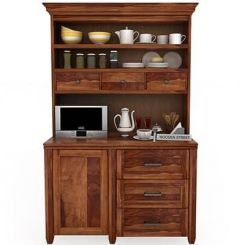 Clayton Kitchen Cabinet (Teak Finish)