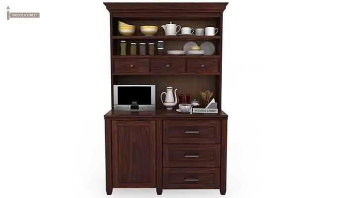 Clayton Kitchen Cabinet (Walnut Finish)-1