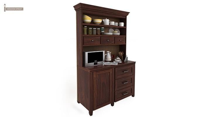 Clayton Kitchen Cabinet (Walnut Finish)-2