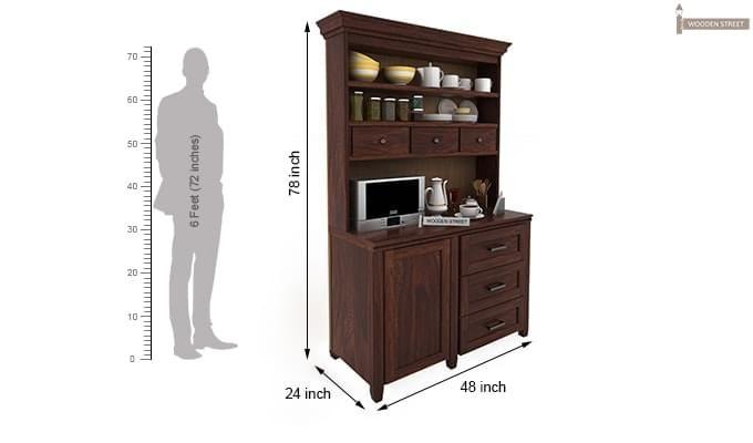 Clayton Kitchen Cabinet (Walnut Finish)-3