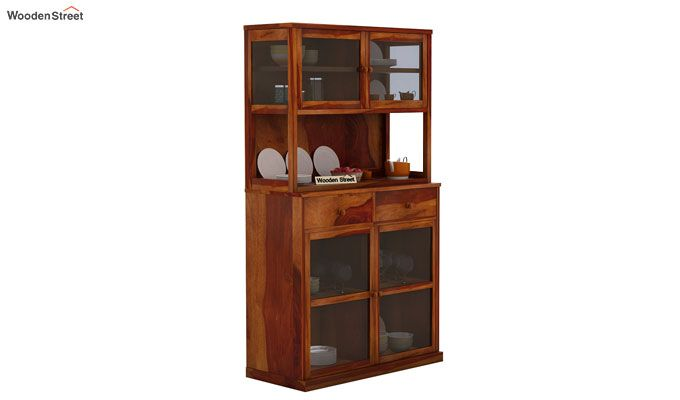 Darius Kitchen Cabinet (Honey Finish)-2