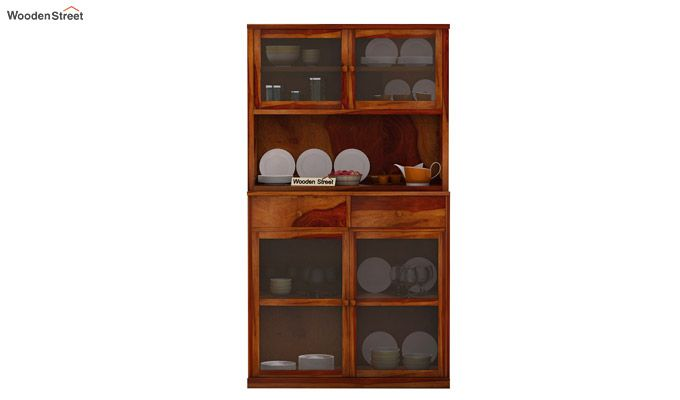 Darius Kitchen Cabinet (Honey Finish)-3