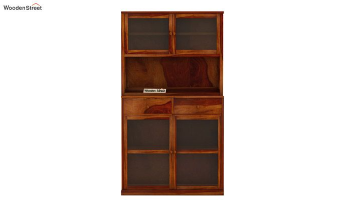 Darius Kitchen Cabinet (Honey Finish)-5