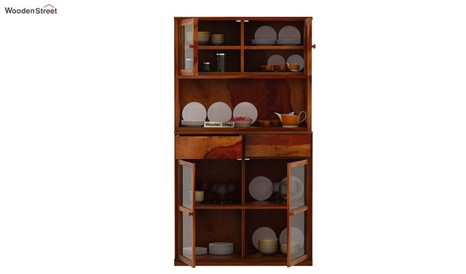 Darius Kitchen Cabinet (Honey Finish)-7