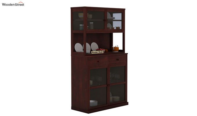 Darius Kitchen Cabinet (Mahogany Finish)-1