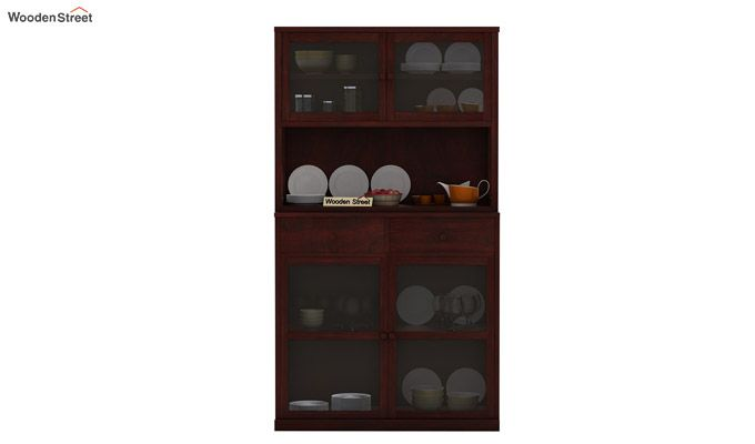 Darius Kitchen Cabinet (Mahogany Finish)-2
