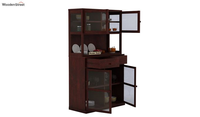 Darius Kitchen Cabinet (Mahogany Finish)-5
