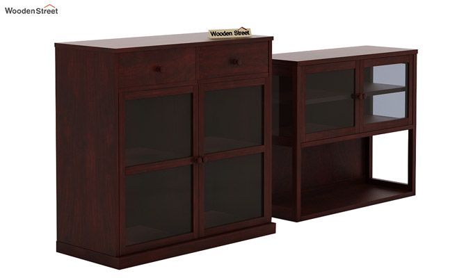 Darius Kitchen Cabinet (Mahogany Finish)-7
