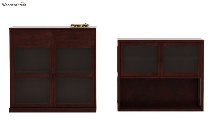 Darius Kitchen Cabinet (Mahogany Finish)-8