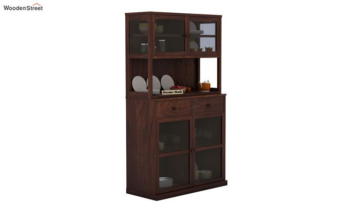 Darius Kitchen Cabinet (Walnut Finish)-1