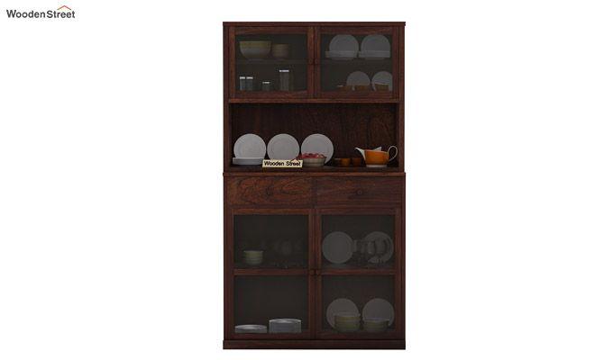 Darius Kitchen Cabinet (Walnut Finish)-2