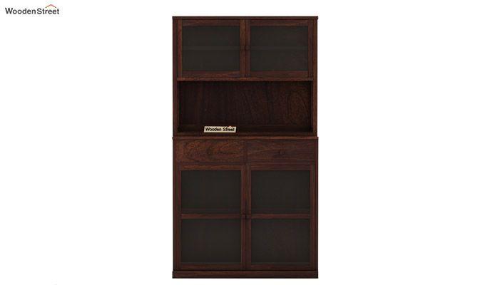 Darius Kitchen Cabinet (Walnut Finish)-4