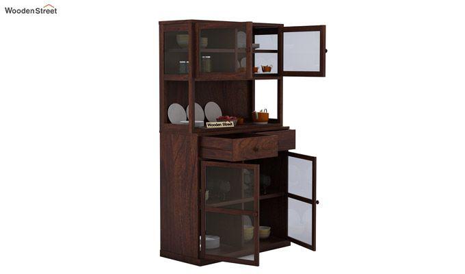 Darius Kitchen Cabinet (Walnut Finish)-5