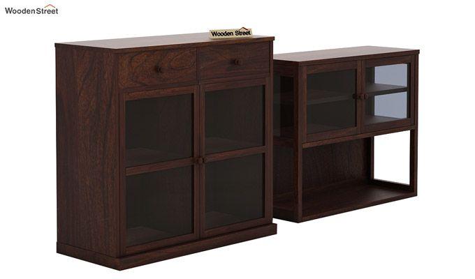 Darius Kitchen Cabinet (Walnut Finish)-7