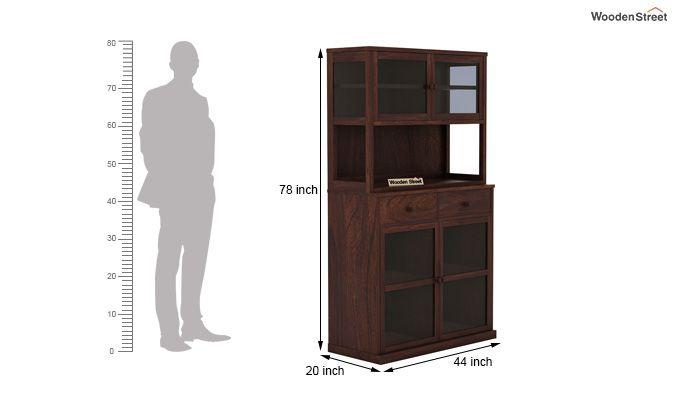 Darius Kitchen Cabinet (Walnut Finish)-9