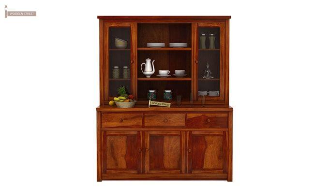 Galla Kitchen Cabinet (Honey Finish)-1