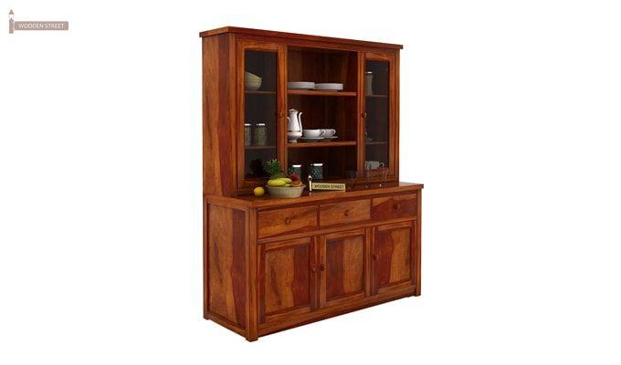 Galla Kitchen Cabinet (Honey Finish)-2