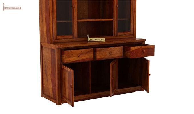 Galla Kitchen Cabinet (Honey Finish)-5