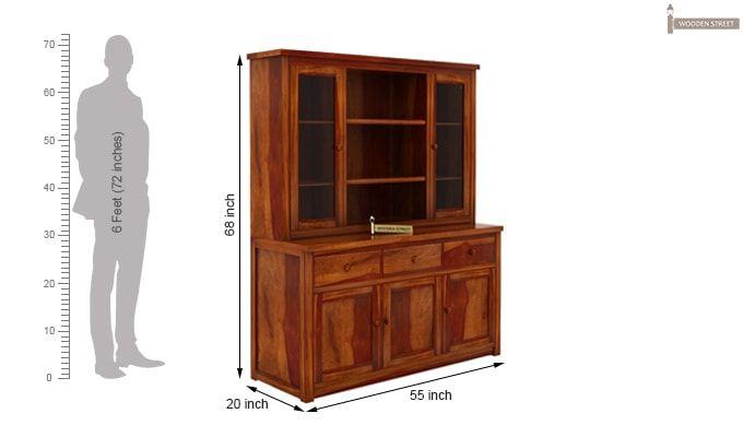 Galla Kitchen Cabinet (Honey Finish)-6
