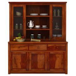 Galla Kitchen Cabinet (Honey Finish)