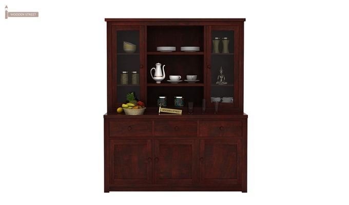 Galla Kitchen Cabinet (Mahogany Finish)-1