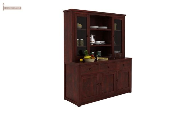 Galla Kitchen Cabinet (Mahogany Finish)-2