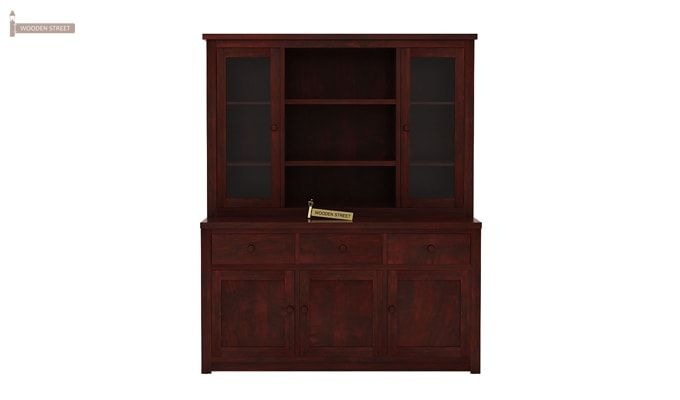Galla Kitchen Cabinet (Mahogany Finish)-3