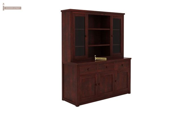 Galla Kitchen Cabinet (Mahogany Finish)-4
