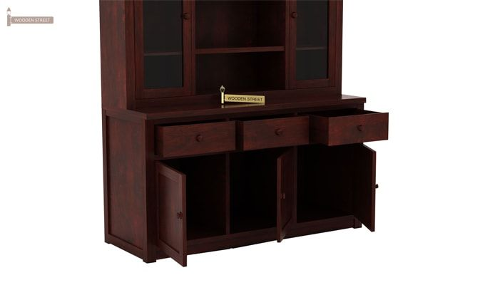 Galla Kitchen Cabinet (Mahogany Finish)-5