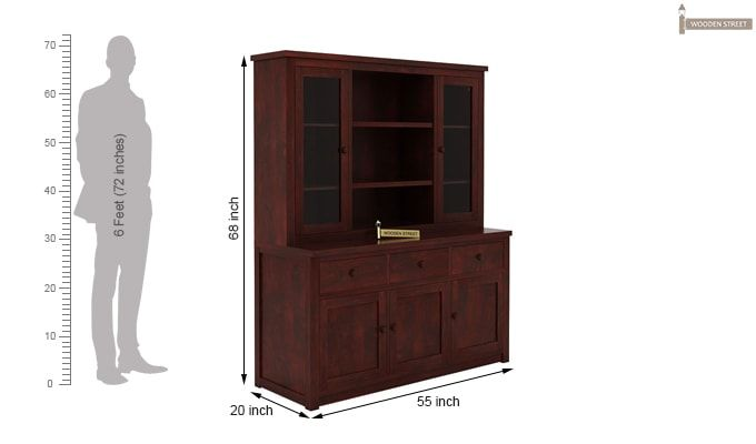 Galla Kitchen Cabinet (Mahogany Finish)-6