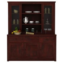 Galla Kitchen Cabinet (Mahogany Finish)