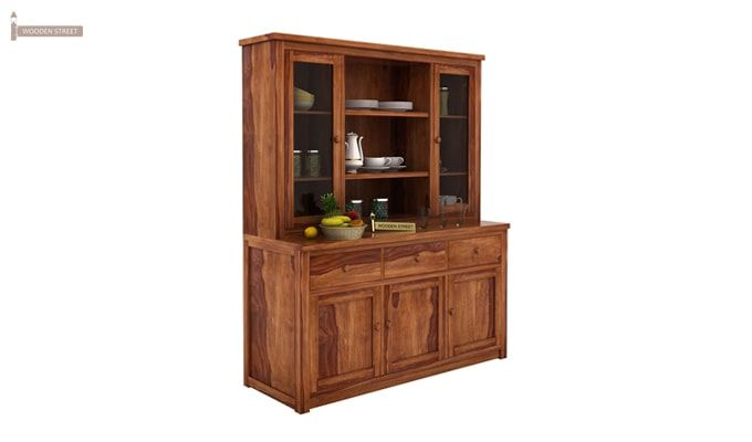Galla Kitchen Cabinet (Teak Finish)-2