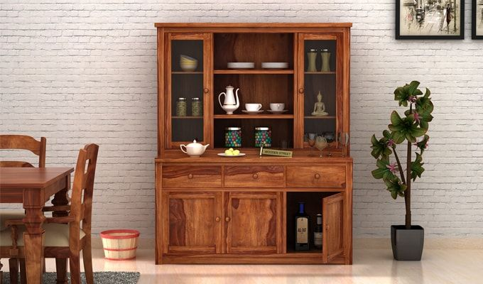 Galla Kitchen Cabinet (Teak Finish)-1