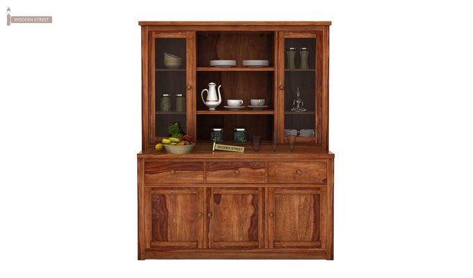 Galla Kitchen Cabinet (Teak Finish)-3