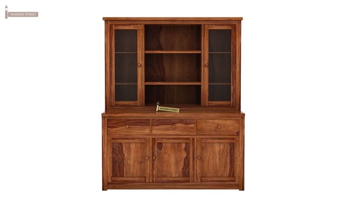 Galla Kitchen Cabinet (Teak Finish)-5