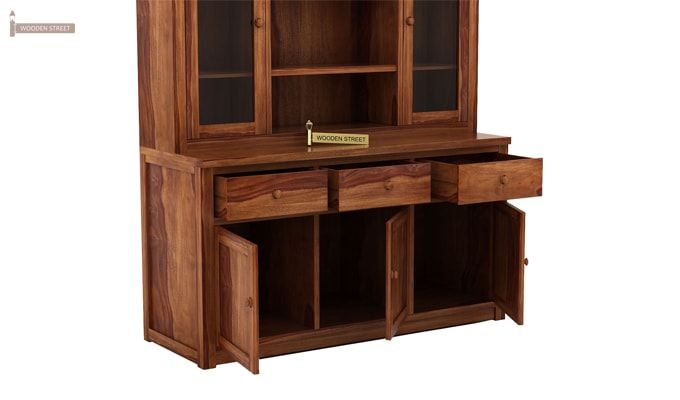 Galla Kitchen Cabinet (Teak Finish)-6